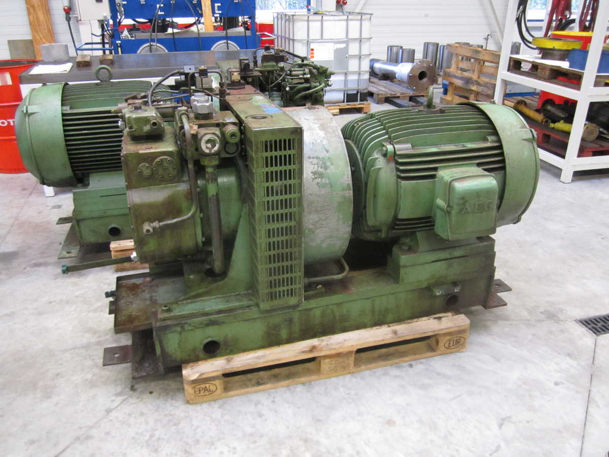 Rexroth pomp unit Revisie repair herstellen testen HYdraulische groep rexroth F1V225 F1V55 F1V107